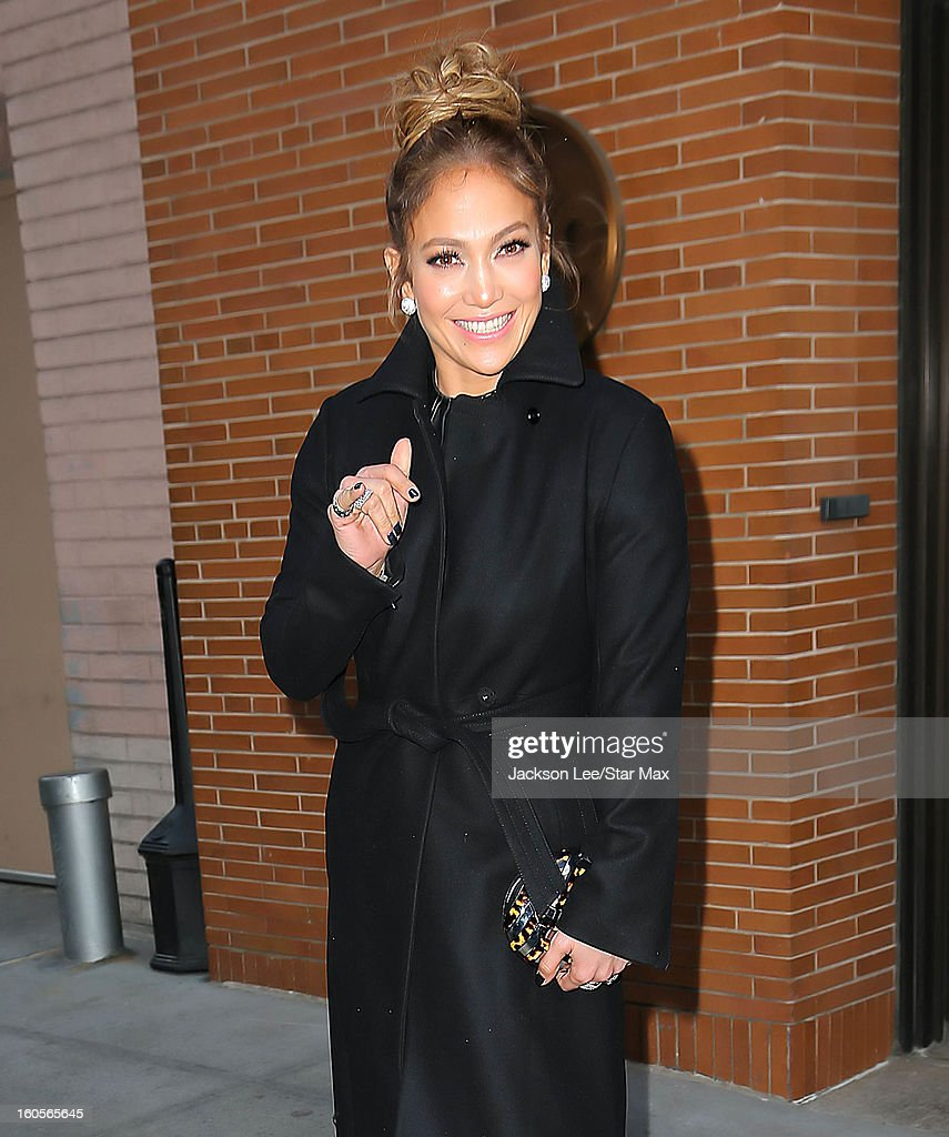 Singer <a gi-track='captionPersonalityLinkClicked' href=/galleries/search?phrase=Jennifer+Lopez&family=editorial&specificpeople=201784 ng-click='$event.stopPropagation()'>Jennifer Lopez</a> as seen on January 23, 2013 in New York City.