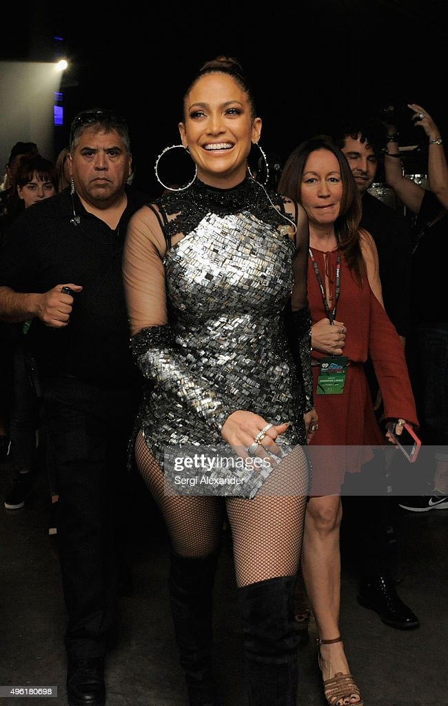 Singer Jennifer Lopez attends iHeartRadio Fiesta Latina presented by Sprint at American Airlines Arena on November 7 2015 in Miami Florida