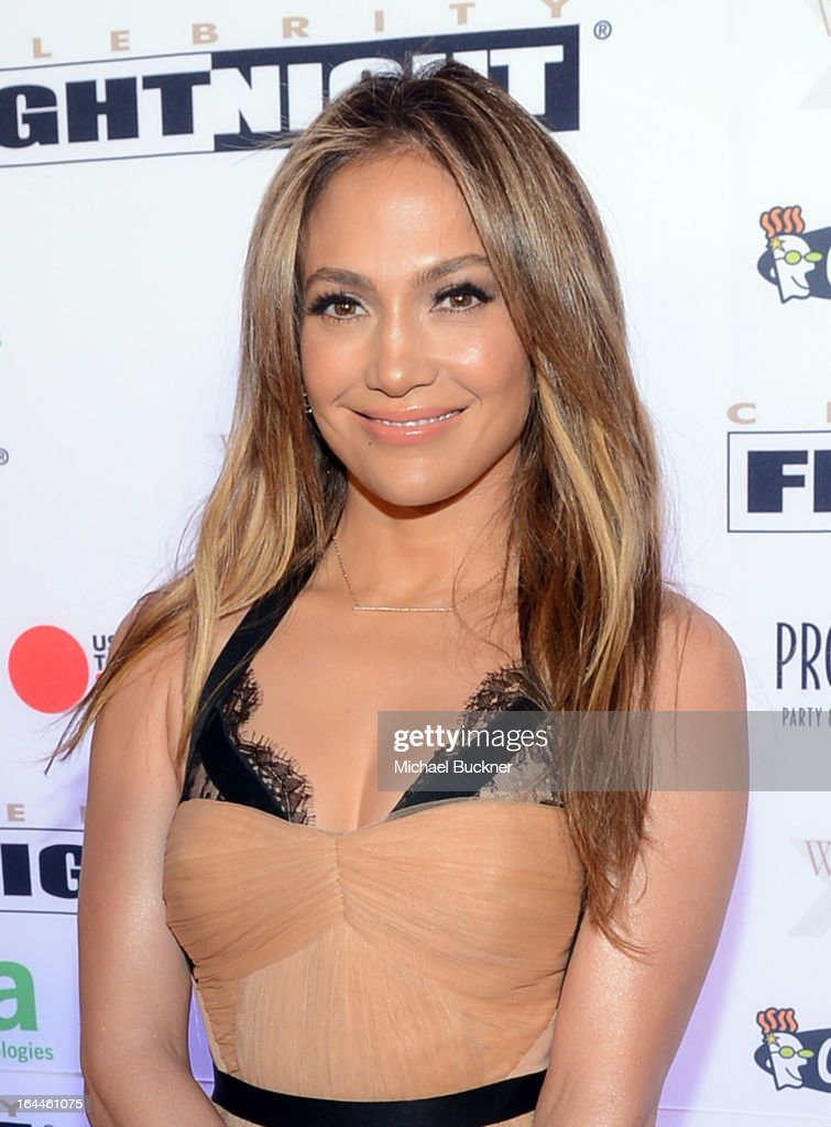 Singer <a gi-track='captionPersonalityLinkClicked' href=/galleries/search?phrase=Jennifer+Lopez&family=editorial&specificpeople=201784 ng-click='$event.stopPropagation()'>Jennifer Lopez</a> attends Muhammad Ali's Celebrity Fight Night XIX at JW Marriott Desert Ridge Resort & Spa on March 23, 2013 in Phoenix, Arizona.