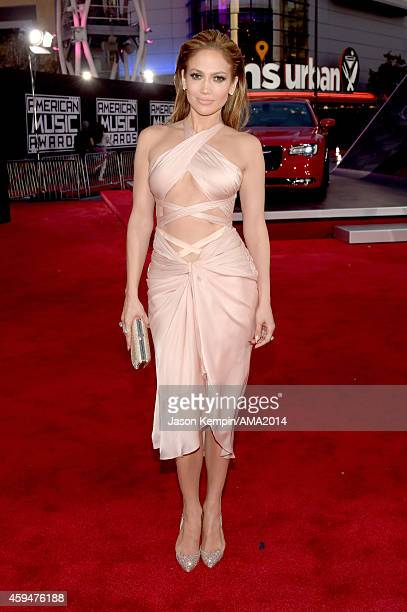 Singer Jennifer Lopez attends the 2014 American Music Award at Nokia Theatre LA Live on November 23 2014 in Los Angeles California