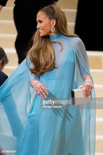 Singer Jennifer Lopez attends the 'Rei Kawakubo/Comme des Garcons Art Of The InBetween' Costume Institute Gala at Metropolitan Museum of Art on May 1...