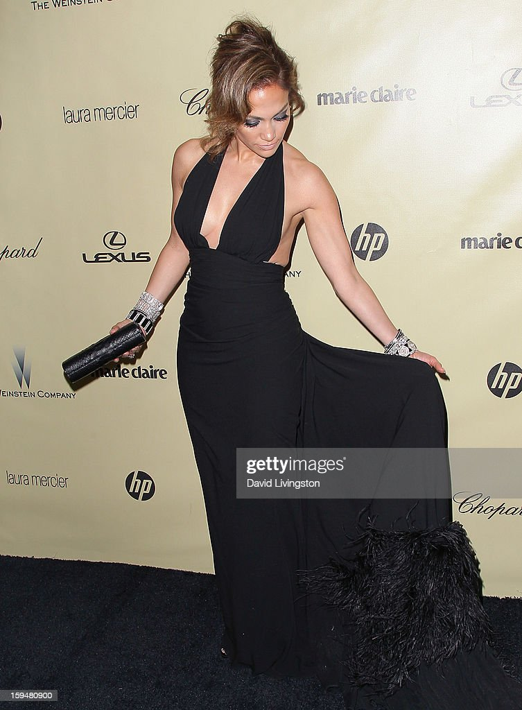 Singer Jennifer Lopez attends The Weinstein Company's 2013 Golden Globe Awards After Party at The Beverly Hilton hotel on January 13, 2013 in Beverly Hills, California.