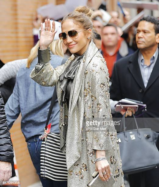 Singer Jennifer Lopez is seen on March 1 2017 in New York City
