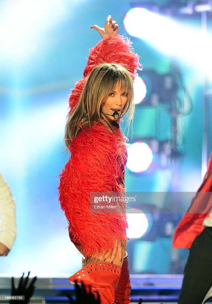 Singer Jennifer Lopez onstage during the 2013 Billboard Music Awards at the MGM Grand Garden Arena on May 19, 2013 in Las Vegas, Nevada.