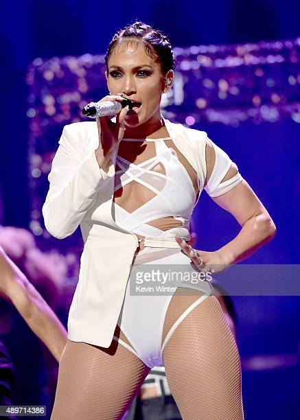 Singer Jennifer Lopez performs at the 2015 iHeartRadio Music Festival at the MGM Grand Garden Arena on September 19 2015 in Las Vegas Nevada