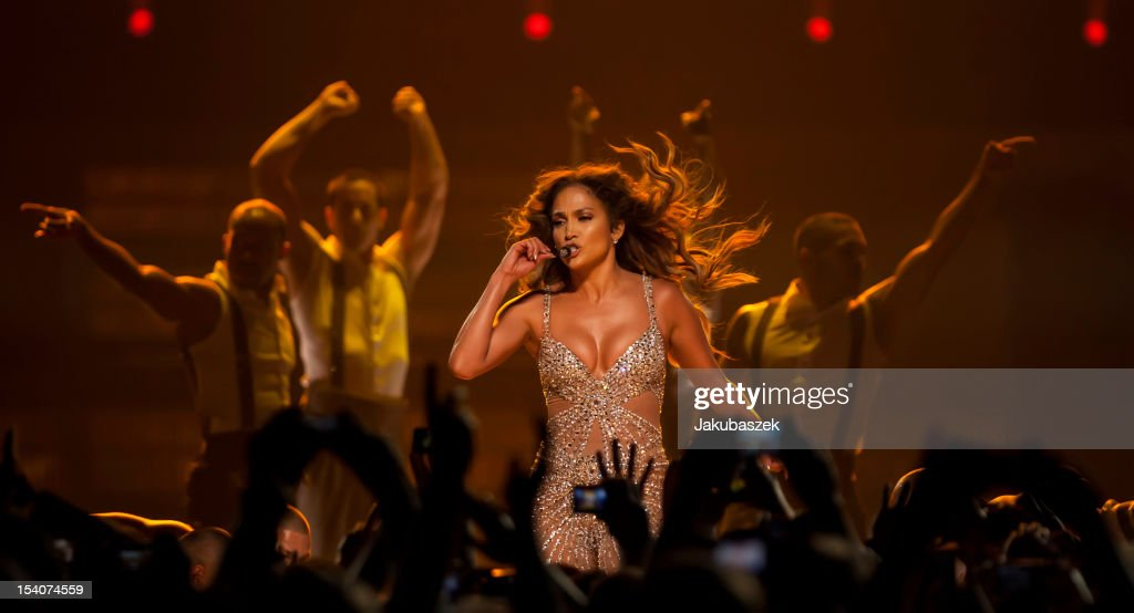 US singer <a gi-track='captionPersonalityLinkClicked' href=/galleries/search?phrase=Jennifer+Lopez&family=editorial&specificpeople=201784 ng-click='$event.stopPropagation()'>Jennifer Lopez</a> performs live during a concert at the O2 World on October 13, 2012 in Berlin, Germany.