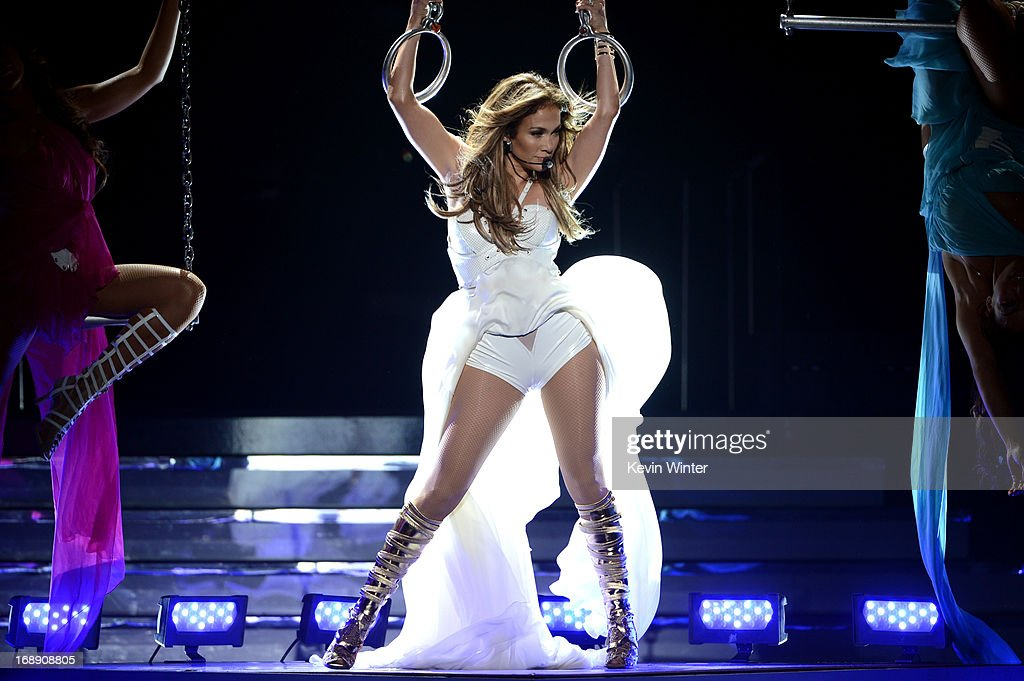 Singer Jennifer Lopez performs onstage during Fox's 'American Idol 2013' Finale Results Show at Nokia Theatre L.A. Live on May 16, 2013 in Los Angeles, California.