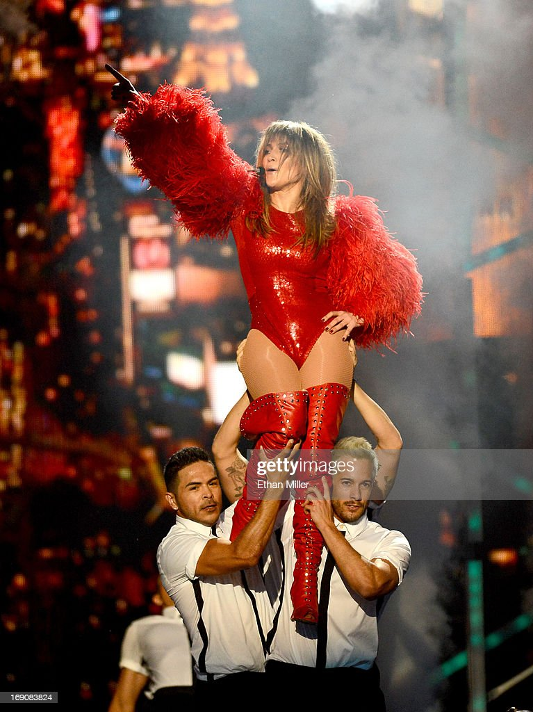 Singer Jennifer Lopez performs onstage during the 2013 Billboard Music Awards at the MGM Grand Garden Arena on May 19, 2013 in Las Vegas, Nevada.