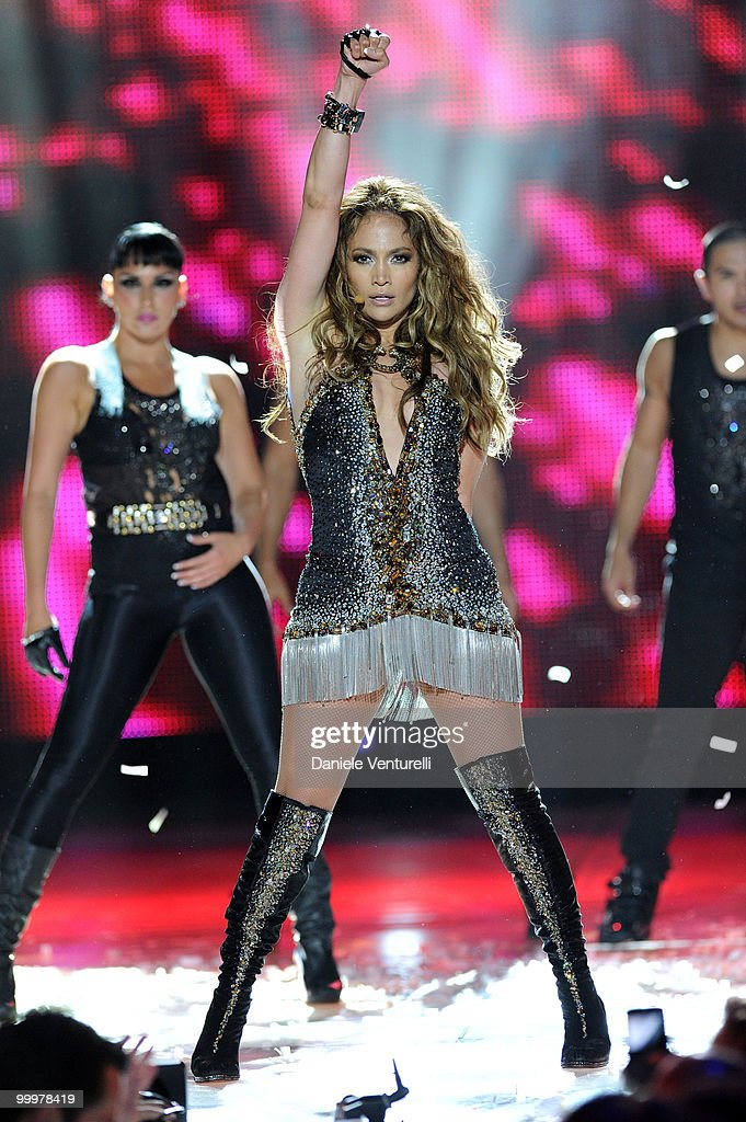 Singer Jennifer Lopez performs onstage during the World Music Awards 2010 at the Sporting Club on May 18, 2010 in Monte-Carlo, Monaco.