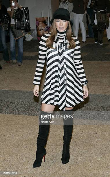 Singer Jennifer Lopez visits MTV's 'TRL' on October 8 at the MTV Studios in New York City