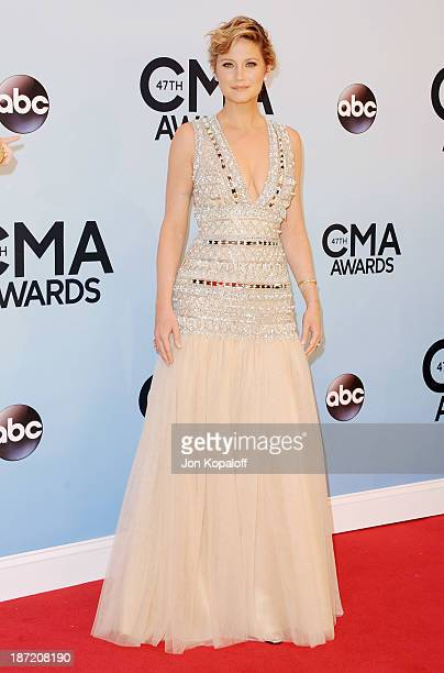 Singer Jennifer Nettles of Sugarland attends the 47th annual CMA Awards at the Bridgestone Arena on November 6 2013 in Nashville Tennessee