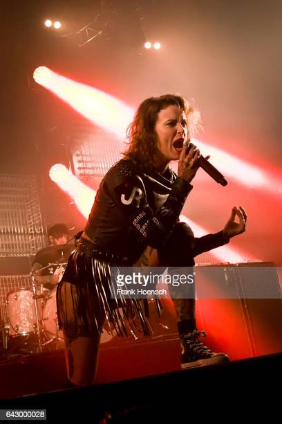 Singer Jennifer Weist of the German band Jennifer Rostock performs live during a concert at the Columbiahalle on February 19 2017 in Berlin Germany