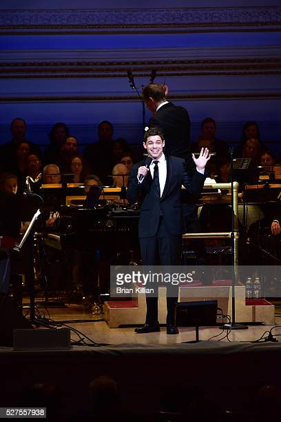 Singer Jeremy Jordan performs during the New York Pops 33rd Birthday Gala Concert at Carnegie Hall on May 2 2016 in New York City