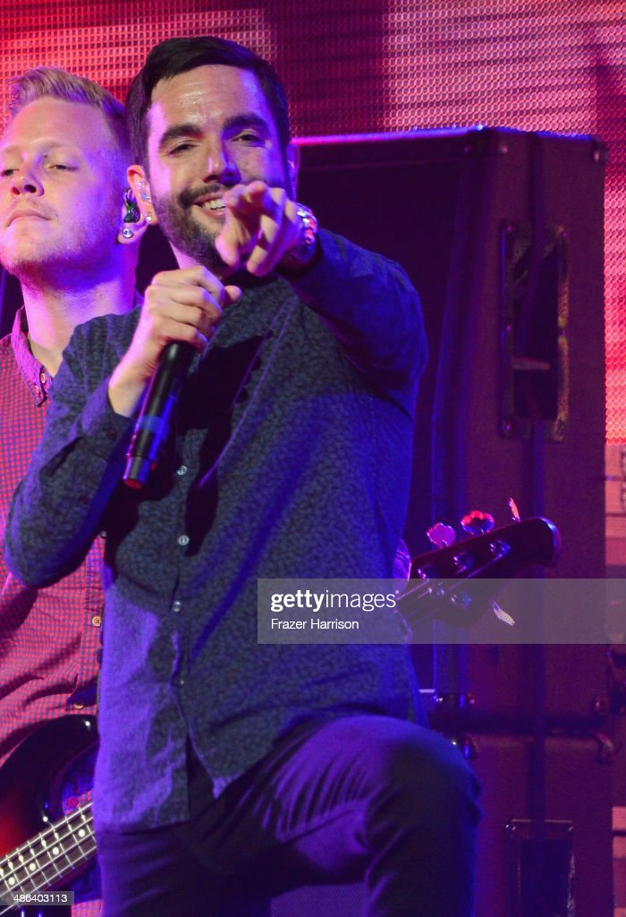 Singer Jeremy McKinnon of A Day To Remember performs onstage at the 2014 Revolver Golden Gods Awards at Club Nokia on April 23, 2014 in Los Angeles, California.