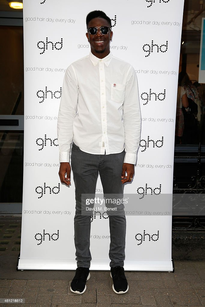 Singer Jermain Jackman attends ghd's exhibition of iconic beauty must-haves to celebrate the launch of ghd aura, a ground-breaking drying and styling tool on June 25, 2014 in London, England.