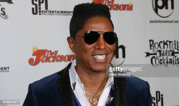 Singer Jermaine Jackson arrives at RockTellz CockTails presents The Jacksons at Planet Hollywood Resort Casino on February 22 2014 in Las Vegas Nevada
