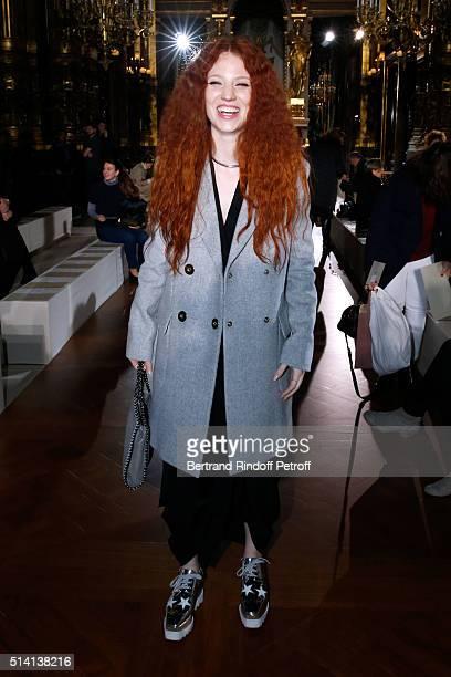 Singer Jess Glynne attends the Stella McCartney show as part of the Paris Fashion Week Womenswear Fall/Winter 2016/2017 Held at Opera Garnier on...