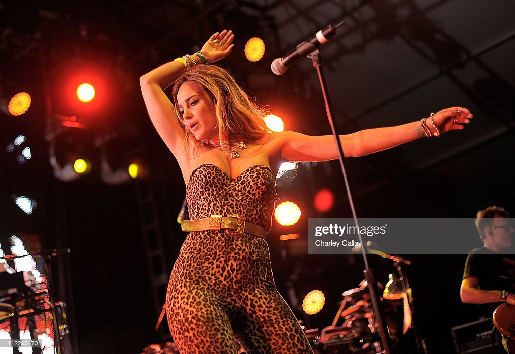Singer Jess Mills of Leftfield performs during Day 3 of the Coachella Valley Music & Arts Festival 2011 held at the Empire Polo Club on April 17, 2011 in Indio, California.