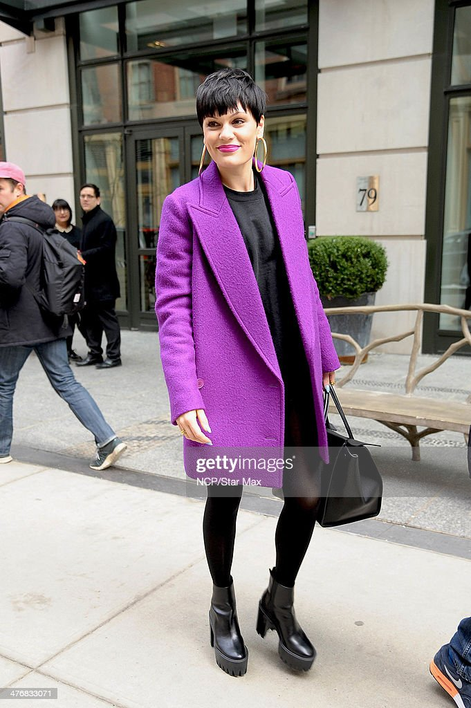 Singer Jesse J is seen on March 5, 2014 in New York City.