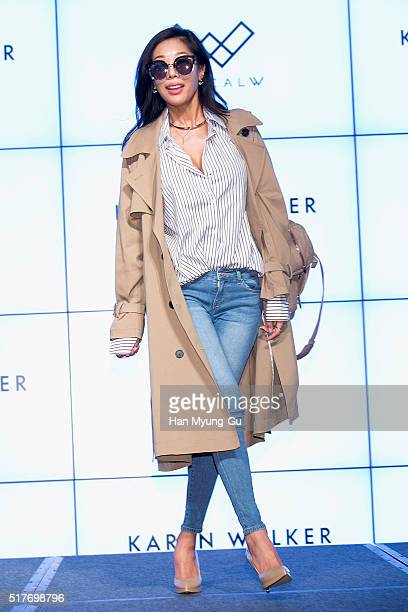 Singer Jessi attends the Optical W 2016 S/S Collection on March 22 2016 in Seoul South Korea