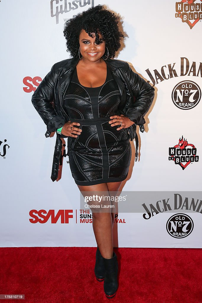Singer Jessica Childress arrives at the 6th annual Sunset Strip Music Festival launch party honoring Joan Jett at House of Blues Sunset Strip on August 1, 2013 in West Hollywood, California.