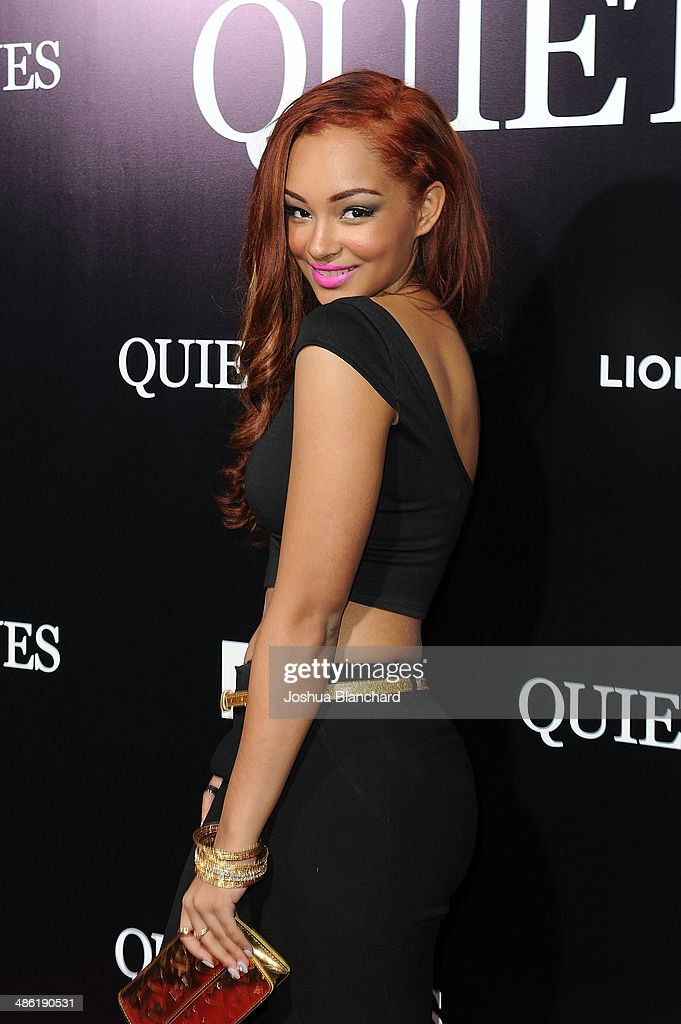 Singer <a gi-track='captionPersonalityLinkClicked' href=/galleries/search?phrase=Jessica+Jarrell&family=editorial&specificpeople=6744949 ng-click='$event.stopPropagation()'>Jessica Jarrell</a> arrives at the premiere of Lionsgate Films' 'The Quiet Ones' at the Theatre At Ace Hotel on April 22, 2014 in Los Angeles, California.