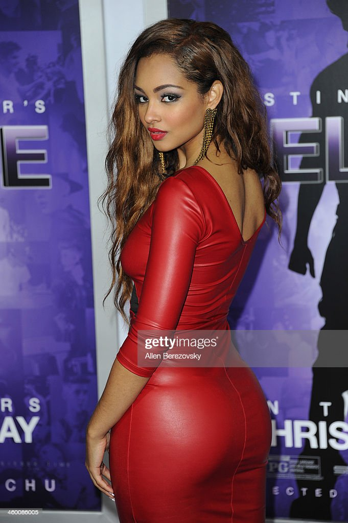 Singer Jessica Jarrell attends the premiere of Open Road Films' 'Justin Bieber's Believe' at Regal Cinemas L.A. Live on December 18, 2013 in Los Angeles, California.