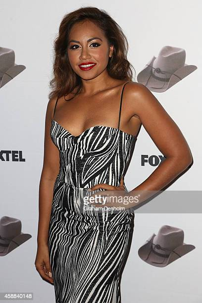 Singer Jessica Mauboy arrives at the Molly Meldrum 50 years in music celebration at Club 23 on November 12 2014 in Melbourne Australia