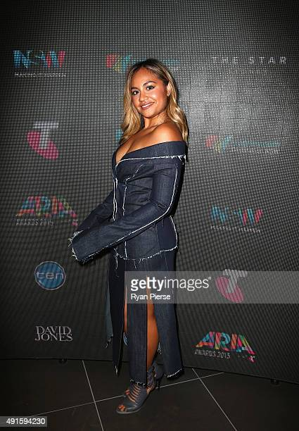 Singer Jessica Mauboy poses at the 29th Annual ARIA Nominations Event on October 7 2015 in Sydney Australia