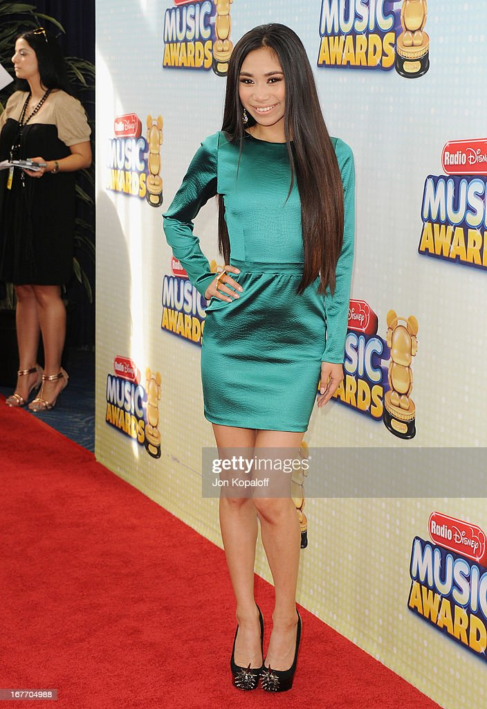 Singer Jessica Sanchez arrives at the 2013 Radio Disney Music Awards at Nokia Theatre L.A. Live on April 27, 2013 in Los Angeles, California.