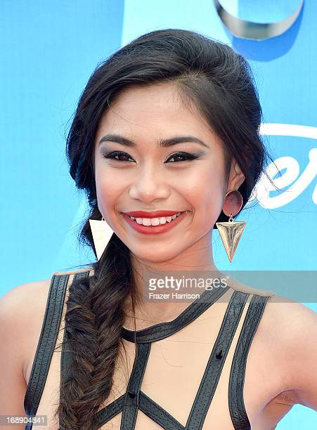 Singer Jessica Sanchez attends Fox's 'American Idol 2013' Finale Results Show at Nokia Theatre LA Live on May 16 2013 in Los Angeles California