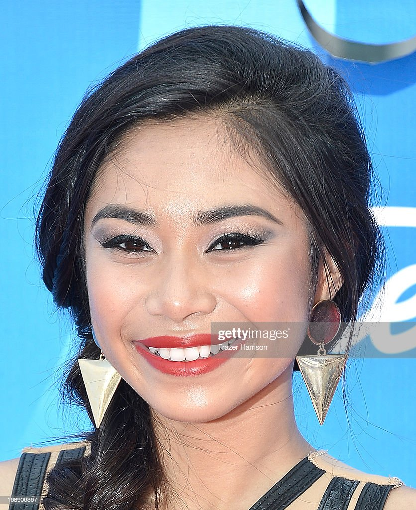 Singer Jessica Sanchez attends Fox's 'American Idol 2013' Finale - Results Show at Nokia Theatre L.A. Live on May 16, 2013 in Los Angeles, California.