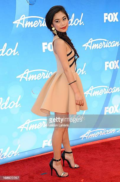 Singer Jessica Sanchez attends the American Idol 2013 finale at Nokia Theatre LA Live on May 16 2013 in Los Angeles California