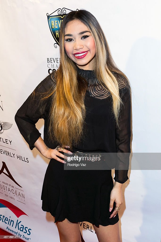Singer Jessica Sanchez attends the Beverly Hills Chamber of Commerce hosting