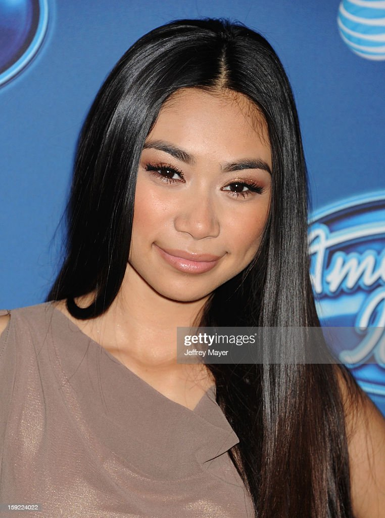 Singer Jessica Sanchez attends the FOX's 'American Idol' Season 12 Premiere at Royce Hall on the UCLA Campus on January 9, 2013 in Westwood, California.