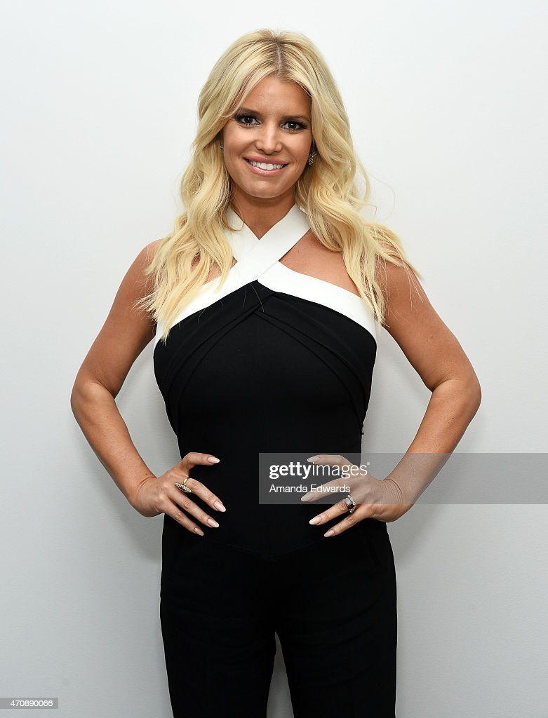 Singer Jessica Simpson attends a special preview of 'The Gleason Project' at ZEFR Warehouse on April 23 2015 in Venice California
