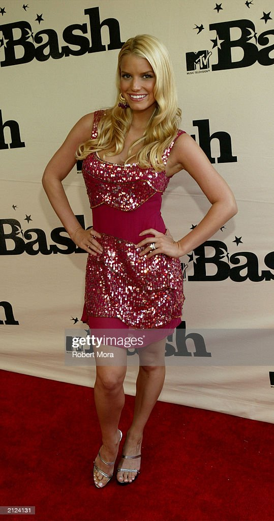 Singer Jessica Simpson attends MTV's 'BASH' at the Hollywood Palladium June 28, 2003 in Hollywood California.