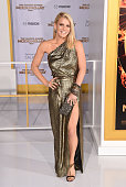 Singer Jessica Simpson attends the Premiere of Lionsgate's 'The Hunger Games Mockingjay Part 1' at Nokia Theatre LA Live on November 17 2014 in Los...