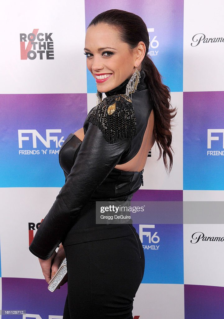 Singer Jessica Sutta arrives at The Grammy Awards: Friends 'N' Family party at Paramount Studios on February 8, 2013 in Hollywood, California.