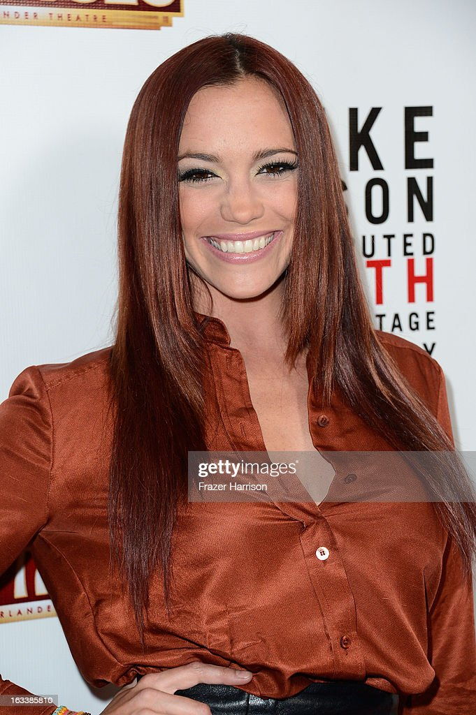 Singer Jessica Sutta arrives at the opening Night Of 'Mike Tyson: Undisputed Truth' At The Pantages Theatre at the Pantages Theatre on March 8, 2013 in Hollywood, California.