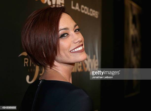 Singer Jessica Sutta attends Life Style Weekly's 'Eye Candy' Halloween Bash hosted by LeAnn Rimes at Riviera 31 at Sofitel on October 29 2015 in Los...