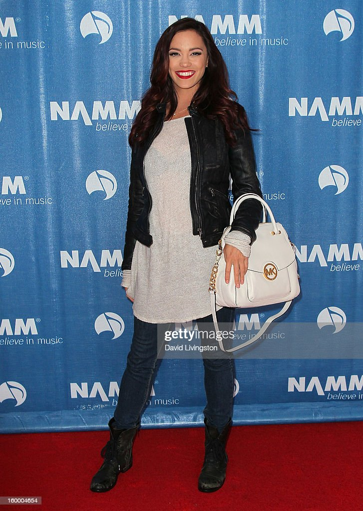Singer Jessica Sutta attends the 2013 NAMM Show - Day 1 at the Anaheim Convention Center on January 24, 2013 in Anaheim, California.