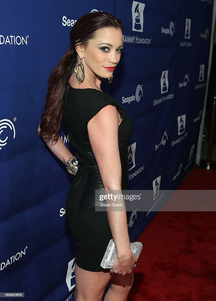 Singer Jessica Sutta attends The 55th Annual GRAMMY Awards - Music Preservation Project 'Play It Forward' Celebration highlighting The GRAMMY Foundations ongoing work to safegaurd music's history at the Saban Theatre on February 7, 2013 in Los Angeles, California.