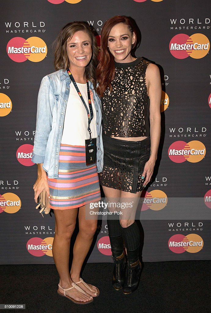 Singer <a gi-track='captionPersonalityLinkClicked' href=/galleries/search?phrase=Jessica+Sutta&family=editorial&specificpeople=688044 ng-click='$event.stopPropagation()'>Jessica Sutta</a> poses with TJX Rewards (R) Platinum MasterCard Card holders at the MasterCard Lounge at Westwood One Backstage on February 13, 2016 in Los Angeles, California.