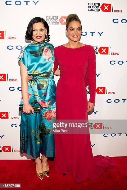 Singer Jessie J and Founder of Delete Blood Cancer Katharina Harf attend the 2014 Delete Blood Cancer Gala at Cipriani Wall Street on May 7 2014 in...