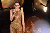 Singer Jessie J and rapper Nicki Minaj perform onstage at the 2014 American Music Awards at Nokia Theatre LA Live on November 23 2014 in Los Angeles...
