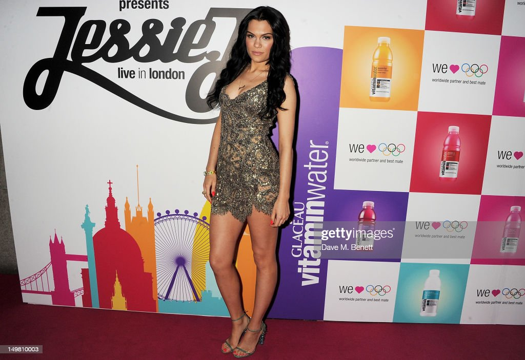 Singer <a gi-track='captionPersonalityLinkClicked' href=/galleries/search?phrase=Jessie+J&family=editorial&specificpeople=5737661 ng-click='$event.stopPropagation()'>Jessie J</a> arrives as Glaceau vitaminwater presents '<a gi-track='captionPersonalityLinkClicked' href=/galleries/search?phrase=Jessie+J&family=editorial&specificpeople=5737661 ng-click='$event.stopPropagation()'>Jessie J</a> Live In London' at The Roundhouse on August 4, 2012 in London, England.