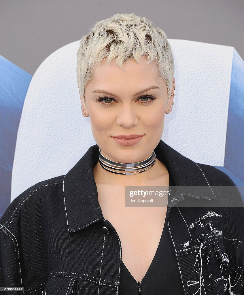 Singer Jessie J arrives at the screening Of 'Ice Age Collision Course' at Zanuck Theater at 20th Century Fox Lot on July 16 2016 in Los Angeles...