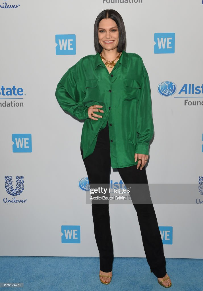 Singer Jessie J arrives at We Day California 2017 at The Forum on April 27, 2017 in Inglewood, California.