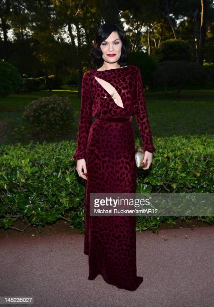 Singer Jessie J attends 2012 amfAR's Cinema Against AIDS during the 65th Annual Cannes Film Festival at Hotel Du Cap on May 24 2012 in Cap D'Antibes...